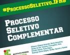 Abertas as inscrições para o  Processo Seletivo Complementar do IFRS