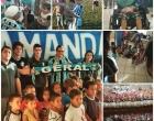 Geral do Grêmio faz a festa da criançada em ação de Páscoa em Tramandaí