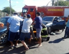 Osório: colisão envolve dois veículos em esquina conhecida por acidentes