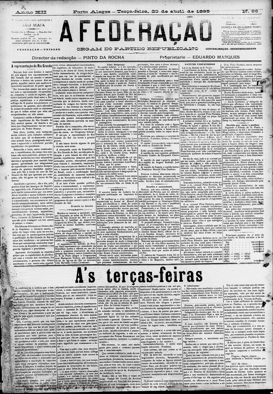 Ed 96 de 23.04.1895 Ataque a Vila em 12.04_capa