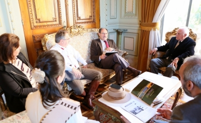 No encontro, os representantes municipais ainda manifestaram o interesse em abrigar a primeira fábrica de folha de flandres no Estado - Foto: Luiz Chaves/Palácio Piratini