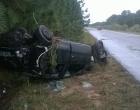 Motorista perde controle e capota carro na RSC-101