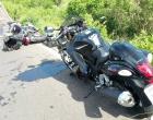 Colisão entre motos deixa dois feridos na Estrada do Mar