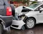 Centro de Osório registra duas colisões praticamente ao mesmo tempo