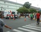 Motociclista fica ferido em colisão no centro de Tramandaí