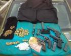 Criminosos fortemente armados são presos após assaltar supermercado em Imbé