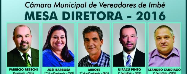Fabrício Rebechi é o novo presidente do Legislativo