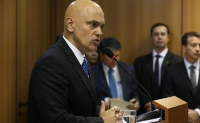 O ministro da Justiça, Alexandre de Moraes, explica a operação da Polícia Federal que prendeu um grupo suspeito de planejar atos terroristas a 15 dias da Rio 2016José Cruz/Agência Brasil
