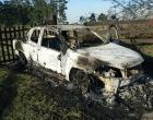 Abigeatários atiram e queimam veículo de administrador de fazenda em Osório