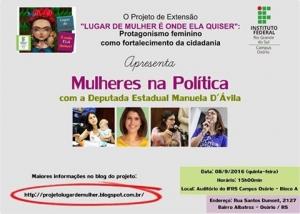 cartaz Lugar de Mulher