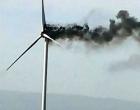 Incêndio atinge torre de parque eólico