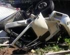 Caminhão tomba às margens da Rota do Sol em Itati