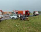 Colisão envolve dois veículos em trevo conhecido por acidentes em Osório