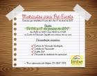 SMEC define datas de matrículas para Pré-Escola em Imbé
