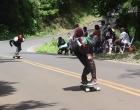 Muita velocidade e quedas marcaram o 1º treino Fechado da Borússia Skate Board Downhill
