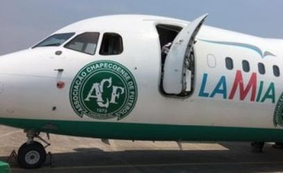 Avião da empresa boliviana Lamia, fretado pela Chapecoense para transportar sua equipeDivulgação/ Cleberson Silva/ Chapecoense