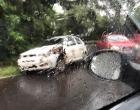 Colisão envolve dois carros no Morro da Borússia em Osório