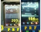 PRF flagra veículo a mais de 200 km/h na Freeway
