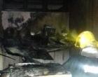 Sorveteria pega fogo em Tramandaí