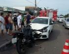 Motociclista fica ferido em acidente de trânsito em Imbé