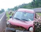 Motorista perde controle e capota veículo na BR-101