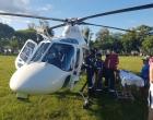 Homem é removido de helicóptero após ter infarto em Capão da Canoa