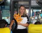 Detran conscientiza passageiros sobre uso do cinto em ônibus