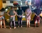 Quinteto é preso após furto em supermercado na ERS 786