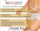 Estética Tatiane Palacio está com agenda aberta para o dia 16/02