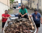 Flagrado crime ambiental no Rio dos Sinos em Santo Antônio
