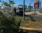 Motorista perde controle e capota veículo em Osório