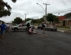 Acidente envolve carro e moto elétrica no centro de Osório
