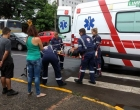 Ciclista fica ferido em acidente no centro de Osório