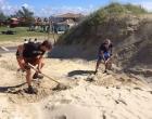 Parte de esteira de acesso à praia é furtada em Imbé