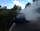 Incêndio atinge veículo na Estrada do Mar