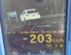 PRF Flagra Veículo a 203 km/h na Freeway