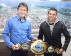Prefeito de Capão da Canoa recebe visita do campeão sul-americano de kickboxing
