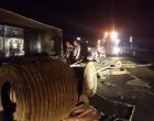 Osório: carreta tomba na Freeway e atinge veículo