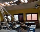Vento forte causa estragos em escolas da região