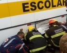 Motociclista sofre fratura após colisão com ônibus escolar em Osório