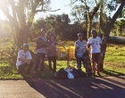 Praticantes do Skate Downhill aderem ações do Jogue Limpo em Osório