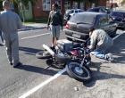 Motociclista fica ferido em colisão no centro de Osório