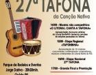 27ª Tafona da Canção Nativa e 1º Litoral Canta a Tafona tem data divulgada em Osório