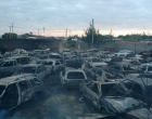 Mais de 100 carros são destruídos pelo fogo em depósito do Detran no Litoral Norte