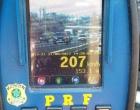 PRF flagra veículo a 207km/h na Freeway