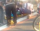 Osório: ciclista tem suspeita de fratura ao cair e bater em tachões