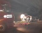 Motorista fica ferido após capotar veículo na RS-030