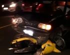 Motociclista fica gravemente ferido em acidente na Estrada do Mar