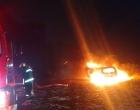 Veículo é incendiado na beira mar de Tramandaí