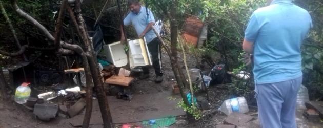Morro do Farol recebe limpeza, após solucionado caso de invasão, em Torres